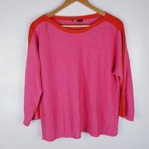 Eileen Fisher XL Organic Linen Pink Sweater